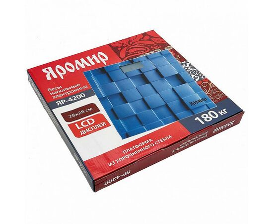 Весы напольные электронные Яромир ЯР-4200 Геометрия фото, изображение 2