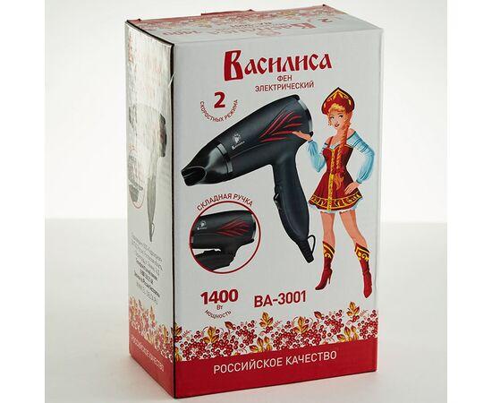 Фен Василиса ВА-3001 черный/красный 1400Вт фото, изображение 3