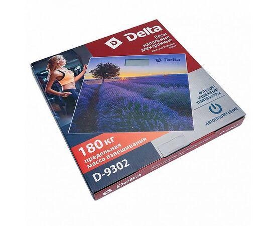Весы напольные электронные DELTA D-9302 Лавандовое поле фото, изображение 2