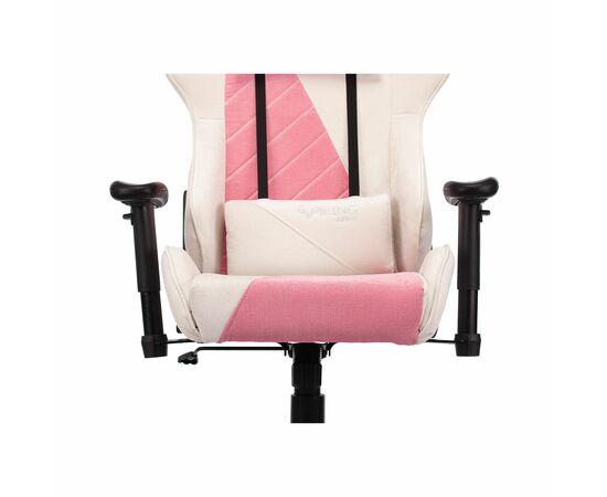 Игровое кресло Бюрократ VIKING X Fabric White-Pink (1428210) фото, изображение 9