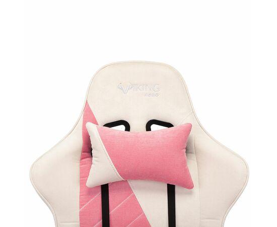 Игровое кресло Бюрократ VIKING X Fabric White-Pink (1428210) фото, изображение 10