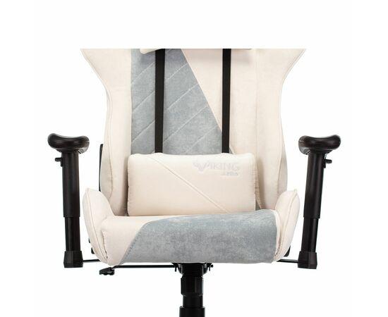 Игровое кресло Бюрократ VIKING X Fabric White-Green, Вариант цвета: white/green фото, изображение 10