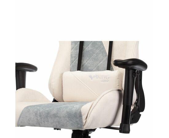 Игровое кресло Бюрократ VIKING X Fabric White-Green, Вариант цвета: white/green фото, изображение 13