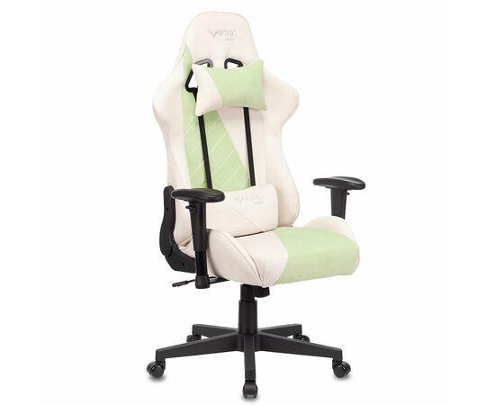 Игровое кресло Бюрократ VIKING X Fabric White-Green, Вариант цвета: white/green фото, изображение 2