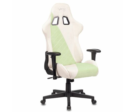 Игровое кресло Бюрократ VIKING X Fabric White-Green, Вариант цвета: white/green фото, изображение 7