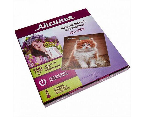 Весы напольные электронные Аксинья КС-6000 Рыжий кот фото, изображение 2