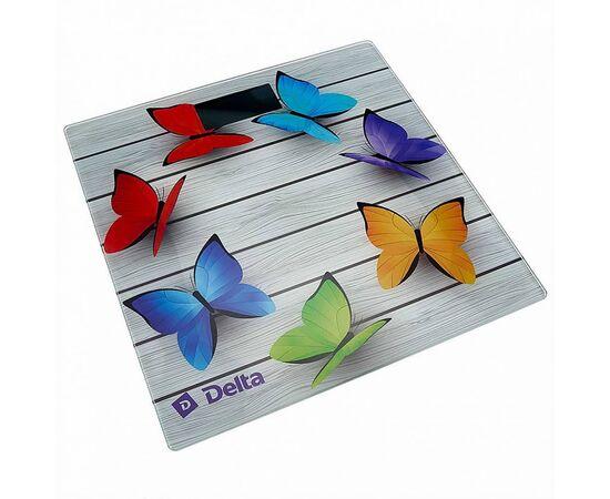 Весы напольные электронные DELTA D-9218 Радужные бабочки фото