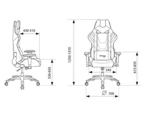 Игровое кресло Бюрократ VIKING 4 AERO BLACK EDITION, Вариант цвета: black фото, изображение 15