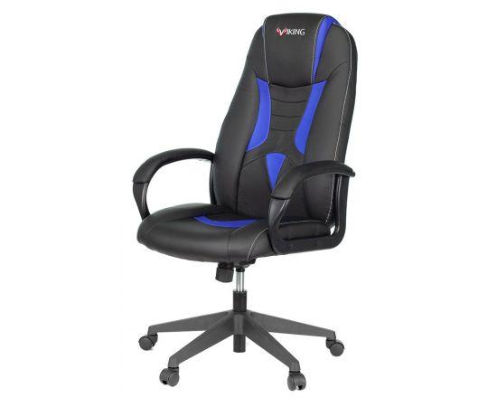 Игровое кресло Бюрократ VIKING-8N/BL-BLUE, Вариант цвета: black/blue фото, изображение 2