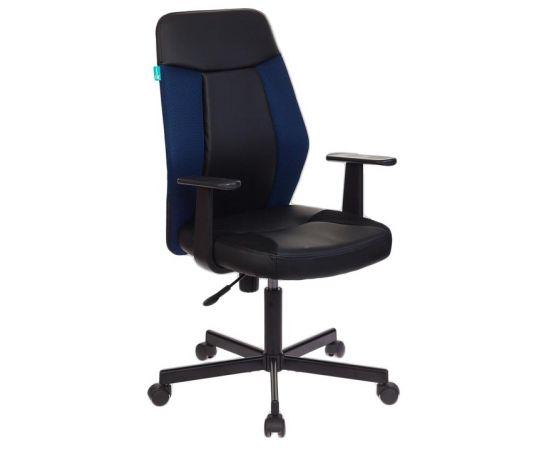 Офисное кресло Бюрократ CH-606/BL+TW-10N черный/синий фото, изображение 2