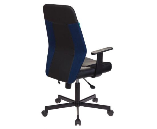 Офисное кресло Бюрократ CH-606/BL+TW-10N черный/синий фото, изображение 4
