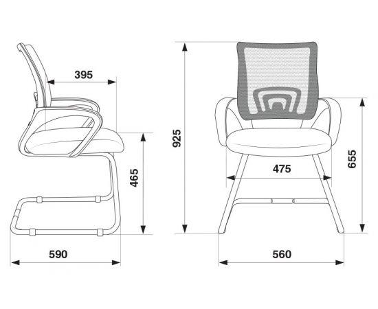 Офисное кресло посетителя Бюрократ CH-695N-AV/BL/TW-11 синий фото, изображение 6