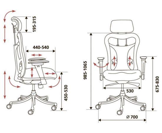 Офисное кресло руководителя Бюрократ CH-999ASX (664088) фото, изображение 6