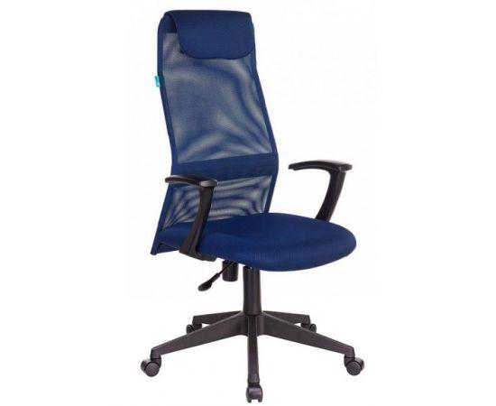 Офисное кресло руководителя Бюрократ KB-8N/DB/TW-10N синий TW-05N TW-10N фото, изображение 2