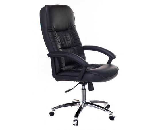Офисное кресло руководителя Бюрократ T-9908AXSN-AB кожа+хром (664176) фото, изображение 2