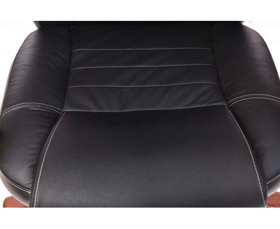 Офисное кресло руководителя Бюрократ T-9923WALNUT/BLACK кожа+дерево (1115302) фото, изображение 13