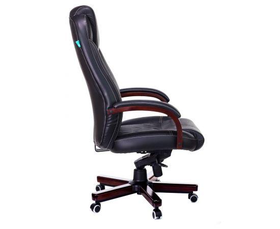 Офисное кресло руководителя Бюрократ T-9923WALNUT/BLACK кожа+дерево (1115302) фото, изображение 3