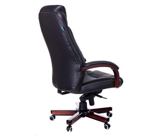Офисное кресло руководителя Бюрократ T-9923WALNUT/BLACK кожа+дерево (1115302) фото, изображение 4