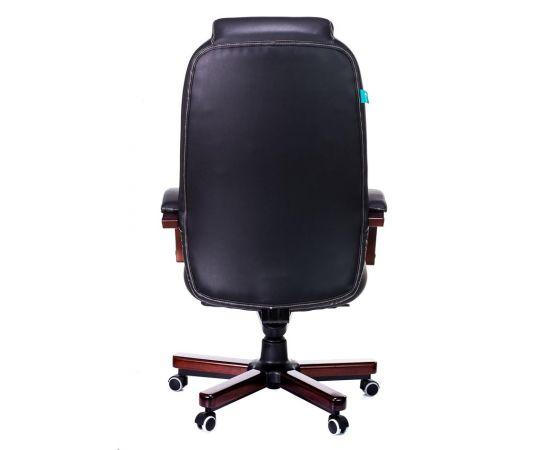 Офисное кресло руководителя Бюрократ T-9923WALNUT/BLACK кожа+дерево (1115302) фото, изображение 5