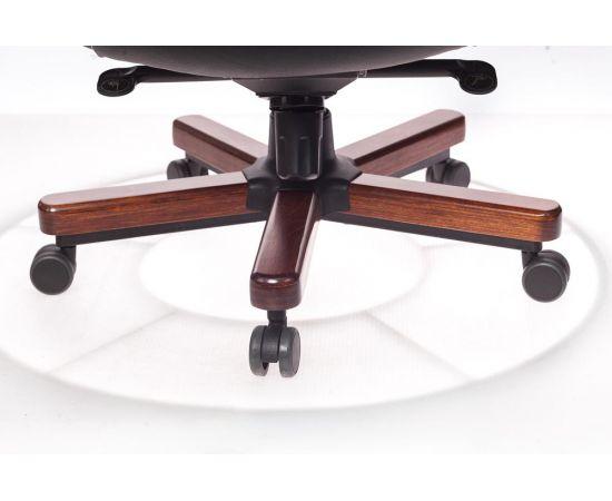 Офисное кресло руководителя Бюрократ T-9923WALNUT/BLACK кожа+дерево (1115302) фото, изображение 6