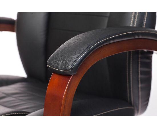 Офисное кресло руководителя Бюрократ T-9923WALNUT/BLACK кожа+дерево (1115302) фото, изображение 8