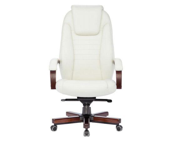 Офисное кресло руководителя Бюрократ T-9923WALNUT/IVORY кожа/дерево фото