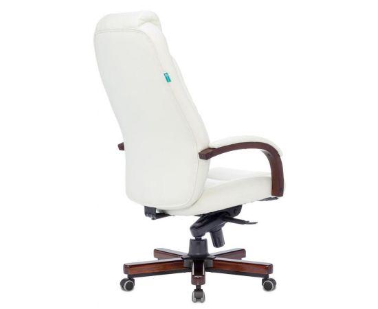 Офисное кресло руководителя Бюрократ T-9923WALNUT/IVORY кожа/дерево фото, изображение 4