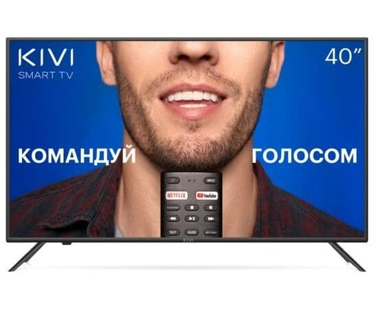 4K UHD Телевизор Smart 40 дюймов KIVI 40U710KB, Google ATV, черный