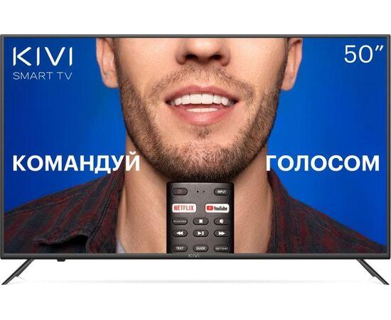 4K UHD Телевизор Smart 50 дюймов KIVI 50U710KB, Google ATV, черный
