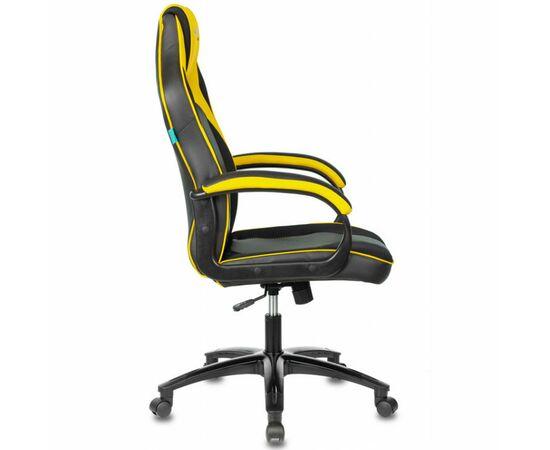 Игровое кресло Бюрократ VIKING 2 AERO Yellow, Вариант цвета: black/yellow фото, изображение 3