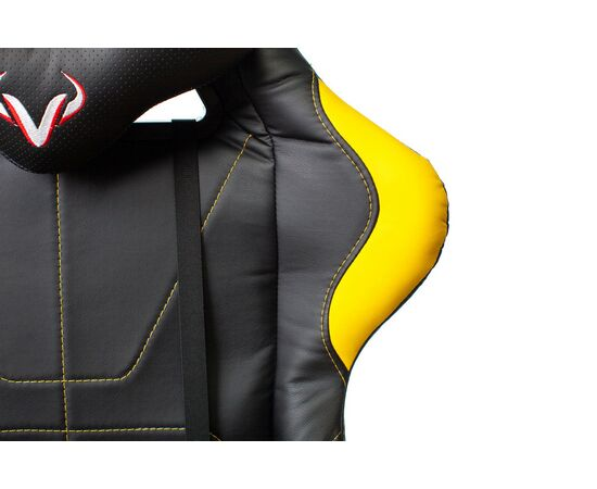 Игровое кресло Бюрократ VIKING 5 AERO Yellow, Вариант цвета: black/yellow фото, изображение 10
