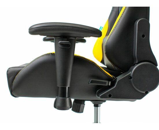 Игровое кресло Бюрократ VIKING 5 AERO Yellow, Вариант цвета: black/yellow фото, изображение 11