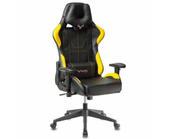 Игровое кресло Бюрократ VIKING 5 AERO Yellow, Вариант цвета: black/yellow фото, изображение 2