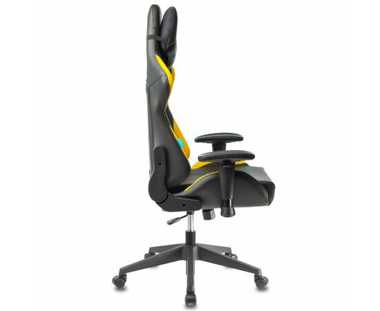 Игровое кресло Бюрократ VIKING 5 AERO Yellow, Вариант цвета: black/yellow фото, изображение 3