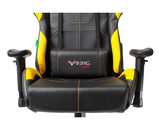 Игровое кресло Бюрократ VIKING 5 AERO Yellow, Вариант цвета: black/yellow фото, изображение 6