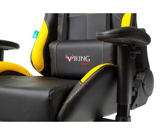 Игровое кресло Бюрократ VIKING 5 AERO Yellow, Вариант цвета: black/yellow фото, изображение 8