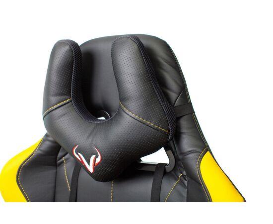 Игровое кресло Бюрократ VIKING 5 AERO Yellow, Вариант цвета: black/yellow фото, изображение 9
