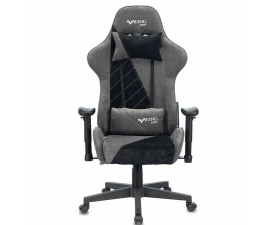 Игровое кресло Бюрократ VIKING X Fabric Grey-Black, Вариант цвета: grey/black фото