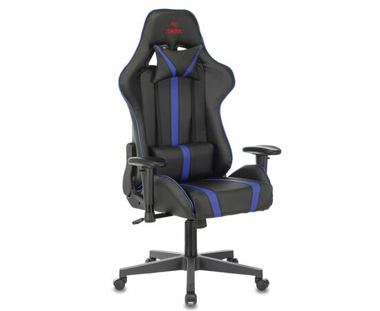Игровое кресло Бюрократ VIKING ZOMBIE A4 Black-Blue, Вариант цвета: black/blue фото, изображение 2