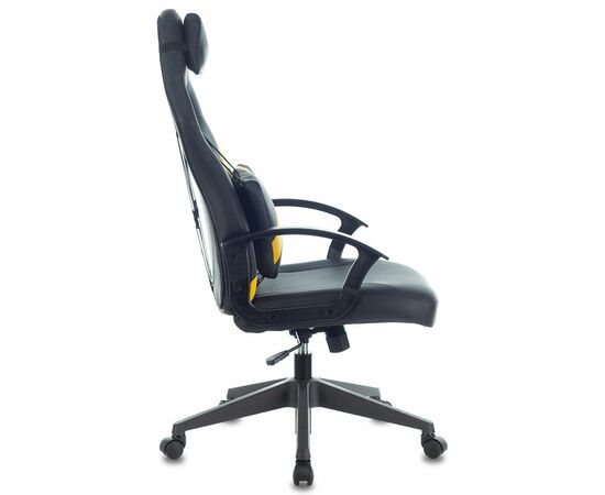 Игровое кресло Бюрократ ZOMBIE DRIVER Black-Yellow фото, изображение 3