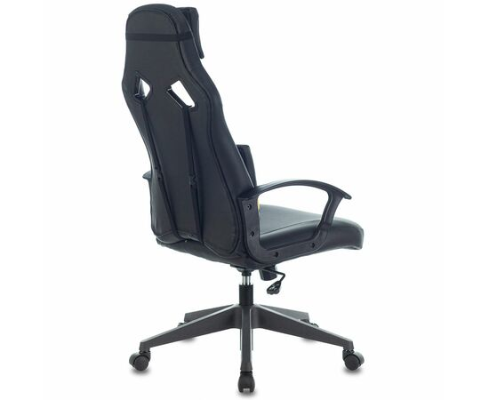 Игровое кресло Бюрократ ZOMBIE DRIVER Black-Yellow фото, изображение 4