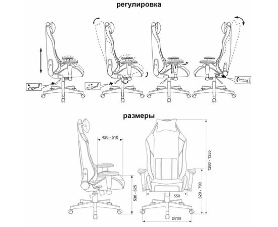 Игровое кресло Бюрократ Zombie HERO CYBERZONE PRO, Вариант цвета: black/yellow фото, изображение 17