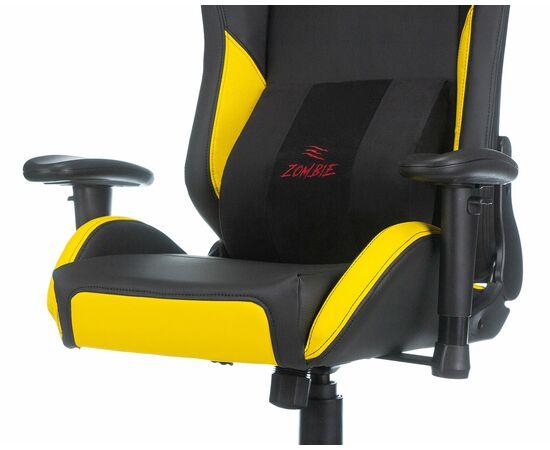 Игровое кресло Бюрократ Zombie HERO CYBERZONE PRO, Вариант цвета: black/yellow фото, изображение 10