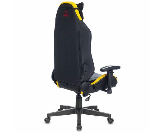 Игровое кресло Бюрократ Zombie HERO CYBERZONE PRO, Вариант цвета: black/yellow фото, изображение 4