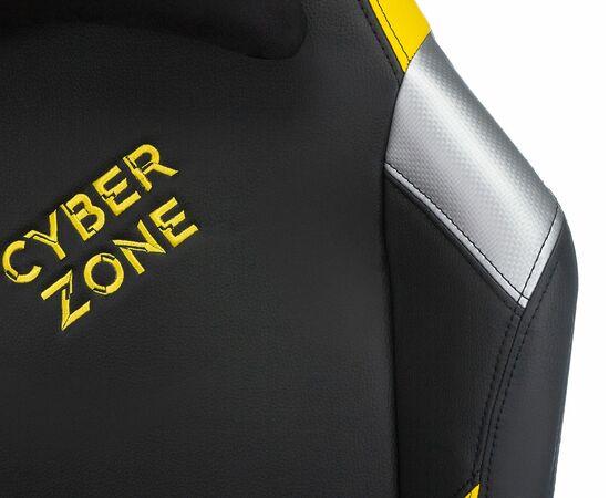 Игровое кресло Бюрократ Zombie HERO CYBERZONE PRO, Вариант цвета: black/yellow фото, изображение 7