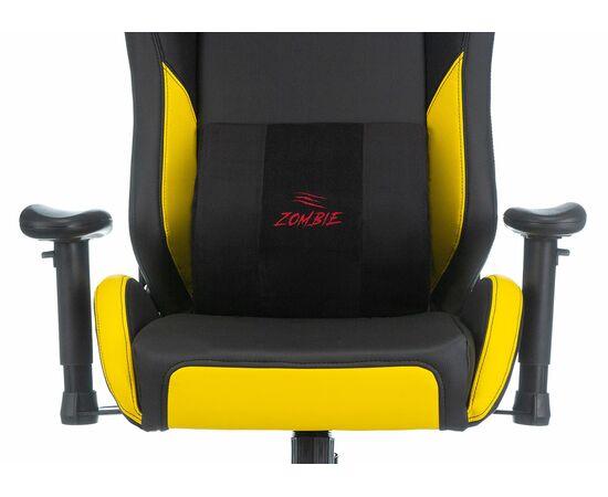 Игровое кресло Бюрократ Zombie HERO CYBERZONE PRO, Вариант цвета: black/yellow фото, изображение 8