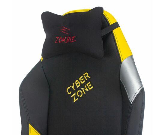 Игровое кресло Бюрократ Zombie HERO CYBERZONE PRO, Вариант цвета: black/yellow фото, изображение 9