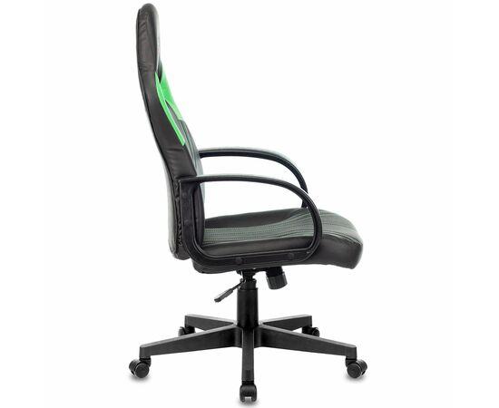 Игровое кресло Бюрократ ZOMBIE RUNNER Black/Green, Вариант цвета: black/green фото, изображение 2