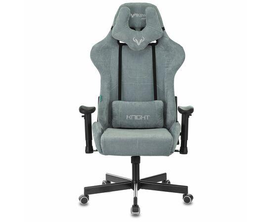 Игровое кресло Бюрократ Zombie VIKING KNIGHT Fabric gray-blue Light-28, Вариант цвета: grey/blue фото