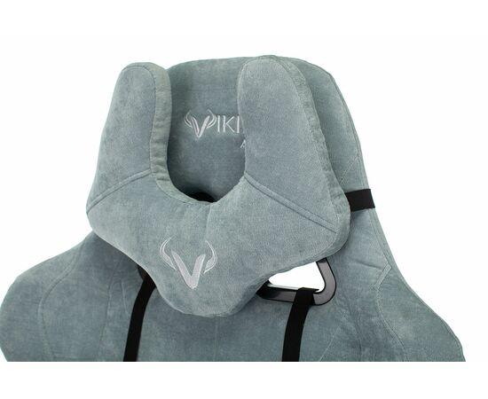 Игровое кресло Бюрократ Zombie VIKING KNIGHT Fabric gray-blue Light-28, Вариант цвета: grey/blue фото, изображение 11